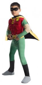 Robin Deluxe Muscle Chest Kids Costume