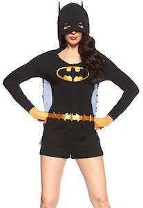 sc 1 st  THLOG & Batman Womenu0027s Romper Costume With Cape And Hood