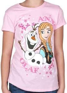 Frozen kids Anna and Olaf t-shirt
