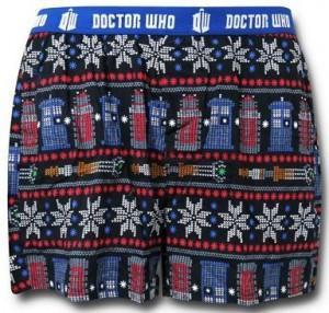 Doctor Who Tardis And Dalek Ugly Christmas Boxers