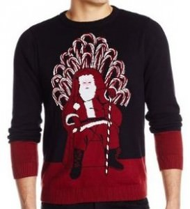 Game Of Thrones Santa Throne Ugly Sweater