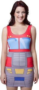 Transformers Optimus Prime Body Hugging Tank Top Dress