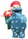 Cookie Monster Pre Lit Lawn Ornament