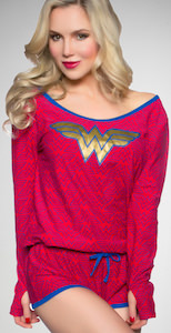 Wonder Woman Logo Long Sleeve Romper