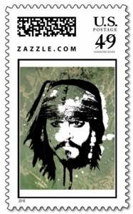Jack Sparrow Postage Stamp