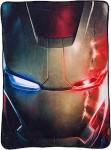 The Avengers Iron Man Mask Fleece Blanket