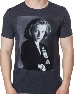 Cross Armed Scully X-Files T-Shirt