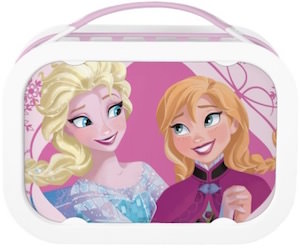 Disney Frozen Pink Anna And Elsa Lunch Box