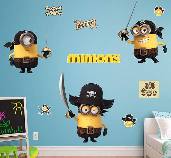 Minions Pirate Wall Decal Set