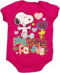 peanuts Snoopy And Woodstock Best Friend Forever Baby Bodysuit