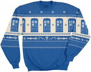 Dr Who Christmas Sweater.Dr Who Tardis And Sonic Screwdriver Ugly Christmas Sweater