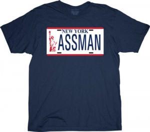 Seinfeld New York Assman License Plate T-Shirt