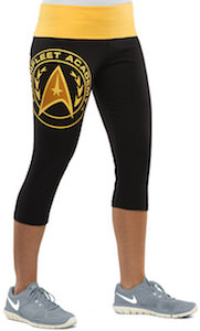 0882e205f25a00 Star Trek Command Logo Ugly Christmas Leggings