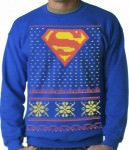 Superman Logo Ugly Christmas Sweater