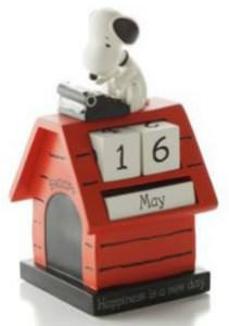 Happiness Is A New Day Snoopy Desk Calendar