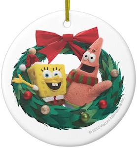 Spongebob And Patrick Christmas Wreath Ornament