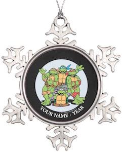Ninja Turtles Personalized Christmas Ornament