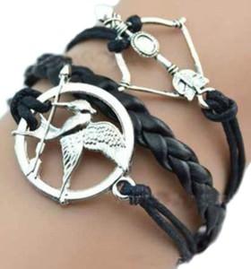 Mockingjay Arrow Leather Braid Bracelet