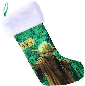 Yoda Green Christmas Stocking