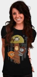 Ewok's In A Tree Women's T-Shirt