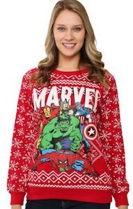Marvel Superhero Christmas Sweater