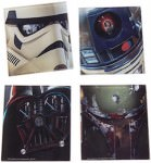Star Wars Glass Coaster Set