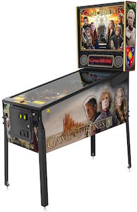 Game of Thrones pinball machine with shaker motor