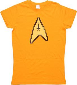 Star Trek 8 Bit Command Logo Women's T-Shirt