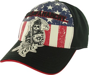 Sons Of Anarchy Flag And Reaper Baseball Cap