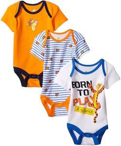 Tigger Baby Bodysuit 3 Pack