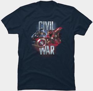 Captain America And Iron Man Civil War T-Shirt