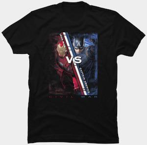 Iron Man VS Captain America T-Shirt