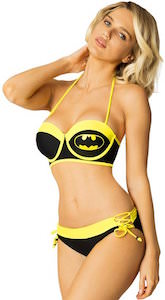 Batman Black And Yellow Under Wire Bikini Set