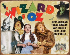 Wizard Of Oz 70th Anniversary Tin Sign