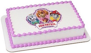 PAW Patrol Cake Topper Image With Skye, Everest And Marshall