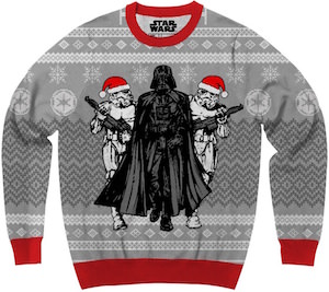 This ugly Christmas sweater has Darth Vader and his Stormtroopers on it