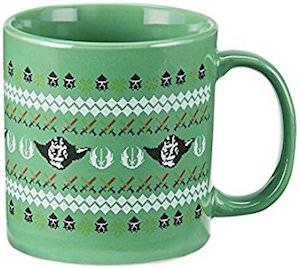 Star Wars Yoda Christmas Mug