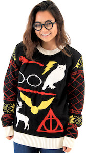 Harry Potter Items Christmas Sweater