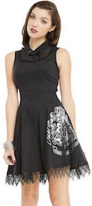 Black Hogwarts Crest Dress