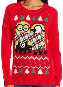 scarfed minions christmas sweater - Minion Christmas Sweater