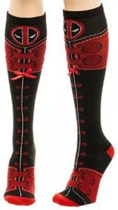 Deadpool Knee High Lace Up Socks
