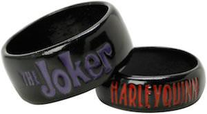 The Joker And Harley Quinn Ring Set