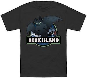 Berk Island And Toothless T-Shirt