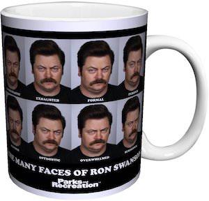 The Many Faces Of Ron Swanson Mug