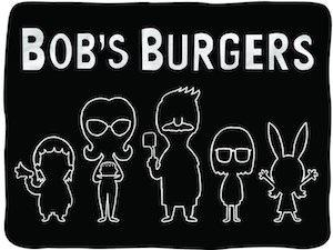 bob s burgers black silhouette blanket