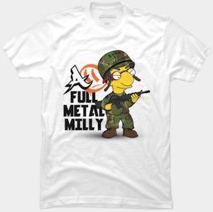 Full Metal Milhouse T-Shirt