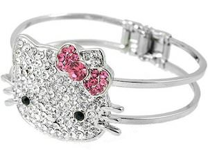 Hello Kitty Crystal Bangle Bracelet