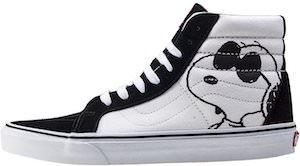 Snoopy & Woodstock Black And White Vans Sneakers