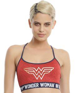 Wonder Woman Logo Sports Bra