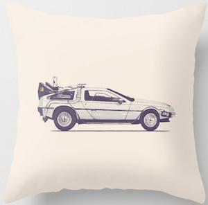 DeLorean Time Machine Pillow